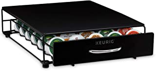 Keurig Under Brewer Storage Drawer, Coffee Pod Storage, Holds up to 35 Keurig K-Cup Pods, Black