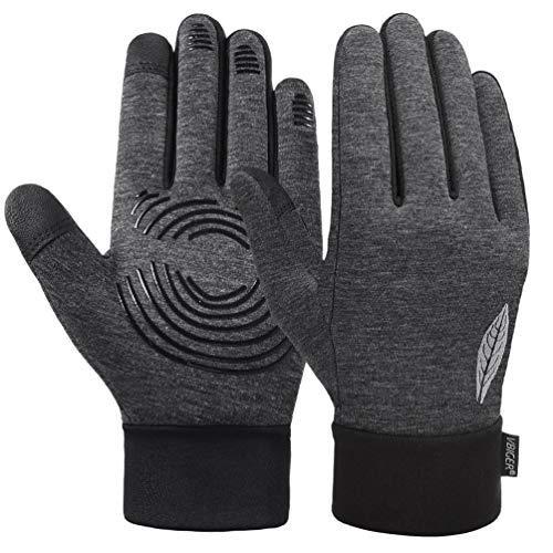 VBIGER Kinder Handschuhe Touchscreen Laufen Handschuhe Radhandschuhe Anti-Rutsch Winterhandschuhe Warm Winddicht für Jungen und Mädchen (Grau, M (8-10 Jahre alt))