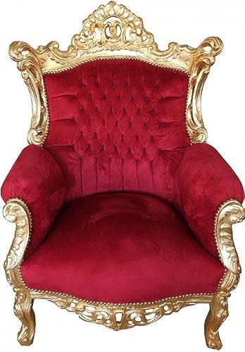 Casa Padrino Barock Sessel 'Al Capone' Bordeaux Gold - M l Antik Stil