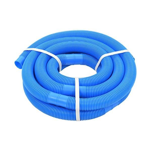 vidaXL Manguera Piscina Azul 32 mm 6,6 m Mantenimiento Terraza Patio Jardín