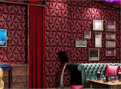 YLCJ behang dikke stijl moderne 3D eenvoudig PVC diamant behang decoratie woonkamer restaurant TV muur plafond slaapkamer café winkel kleding winkel (53 cm (L) × 10 m)