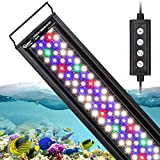 hygger 22W 24/7 Lighting Aquarium LED Light, Sunrise-Daylight-Moonlight Mode and DIY Mode, Adjustable Timer Adjustable Brightness Fish Tank Light with Extendable Bracket 7 Colors for Planted Tank