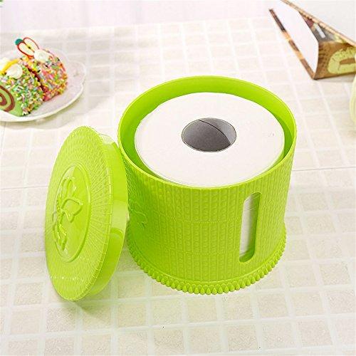 Generic Table Boîtes de mouchoirs Coque support pour rouleau de salle de bain wc en plastique Boîte de rangement organiseur Maison Bureau Container Qqp116