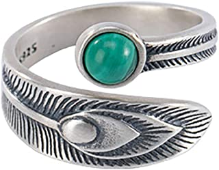 خواتم حقيقية 925 لوتس مفتوحة للنساء الرجال هدايا خمر الزهور إصبع خاتم الفضة الأزياء والمجوهرات هدايا
