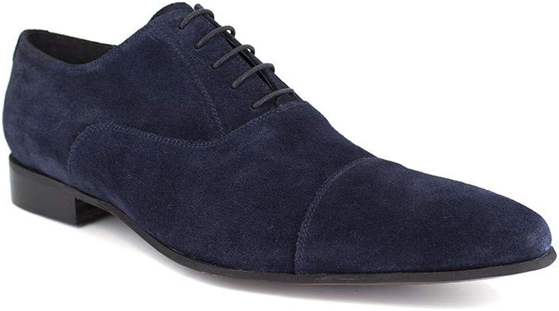 J.Bradford Richelieu Navy bluee Leather JB-Easton
