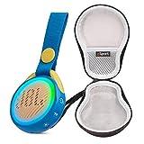 JBL JR POP Portable Bluetooth Speaker for Kids Bundle with gSport Deluxe Hardshell Case (Blue)