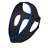 Chin Strap for CPAP Users - Effective Stop Snoring Solution Comfortable Snore Stopper (Black & Blue)