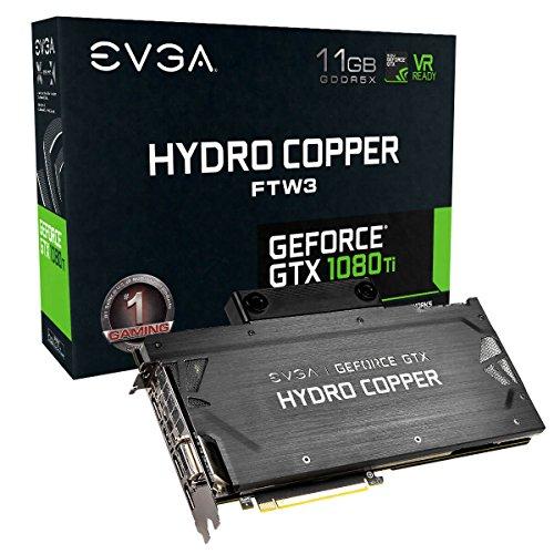 EVGA GeForce GTX 1080 Ti FTW3 Hydro Copper GAMING, 11GB GDDR5X, Hydro Copper Waterblock e LED RGB, tecnologia iCX - 9 sensores térmicos 11G-P4-6699-KR