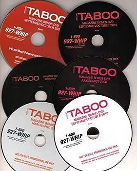 ADULT DVD PACKS - TABOO - LOT OF 6  MAGAZINE BONUS DVDS PULLED AT RANDOM