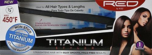 RED Kiss Titanium Styler Flat Irons, 13mm
