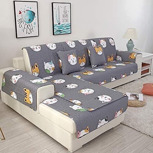 Basa beschermhoes voor tuinmeubelen, cartoon-stof, antislip, meubelbescherming, stofbescherming eenvoudig 90*180cm Grijze kat
