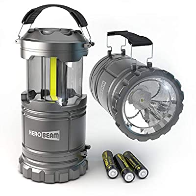 2 x LED Lantern V2.0 with Flashlight - The Original & Best Lantern/Flashlight Combo. 2020 Tech (350 LUMENS) - Collapsible Camp Lamp - Great Light for Camping, Car, Shop, Garage - Batteries Included