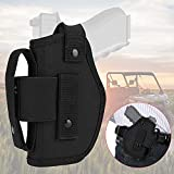 kemimoto OWB Gun Holsters for Men/Women, Universal Holster Concealed Carry with Mag Pouch, Outside The Waistband for Right/Left Hand Draw Fits Subcompact to Large Handguns, Black