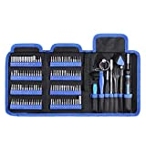 ORIA Precision Screwdriver Sets (Newest) 126 in 1 with 112 Bits Magnetic Screwdriver Kit, Js Torx Screwdriver Set Repair Tool Kit for Electronics Mobile Phone Smartphone Game Console Tablet PC Blue