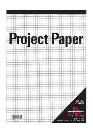 オキナ プロジェクトペーパー B5 5ミリ方眼罫 100枚 PPB55S