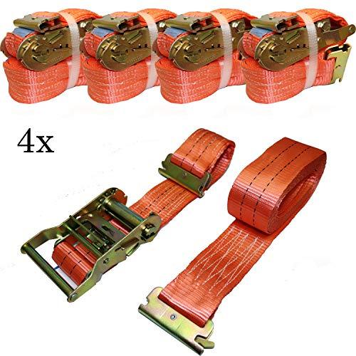 NTG 4 x Spanngurt Zurrgurt 1000/2000 daN, 5m, 50 mm, 2-teilig f. Kombi-Ankerschiene