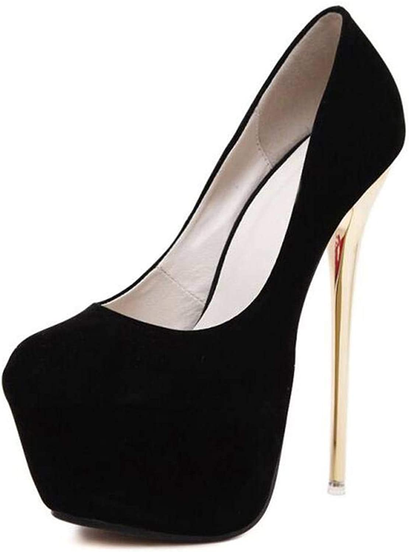 Fan-Shu Pumps Wedding Women shoes Concise Woman Pumps High Heel Stripper Pumps 16 cm