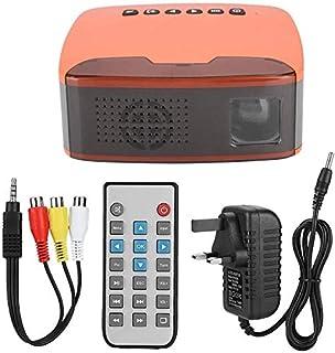 ZLSANVD Mini Projector MY20 Mini 1080P HD Projector Portable Home Cinema Beamer AV/HDMI/USB/TF Orange with Adjustable Buil...