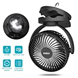 Best Camping Fans - JOMST Portable Camping Fan LED Lantern, 4 Speeds Review