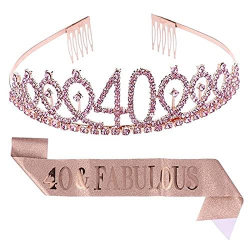 HAWFHH Tiaras Y Coronas, para Chicas, Envoltura De La Cabeza, Aro De Pelo, Princesa Cumpleaños Crown Tiara Fiesta Decoraciones