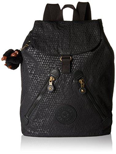 Kipling Damen FUNDAMENTAL Rucksack, Schwarz (Black Scarlet EMB), 42x42x16.5 cm