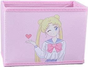 Cartoon Storage Box, Cute Japan Anime Sailor Moon Tsukino Usagi Model Figure Desktop Storage Box Case Makeup Holder Organizer for Kids Girls Gift (Wink)