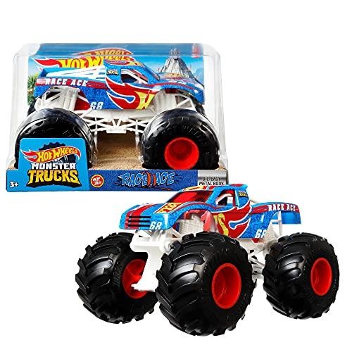 Hot Wheels Monster Trucks Vehículo de carreras Coche de juguete todoterreno, regalo para niños +3 años (Mattel GTJ37)