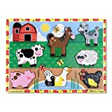 Melissa & Doug Farm Chunky Puzzle | Puzzles | Wooden Toy | 2+ | Gift for Boy or Girl