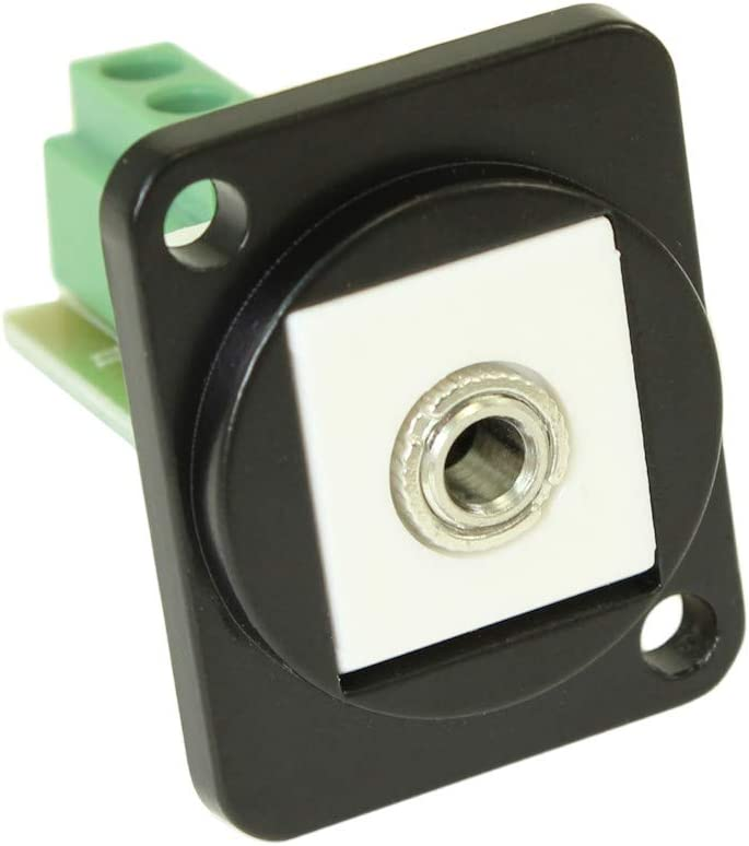 MyCableMart Wall Plate: 3.5mm TRS Direct store Panel Neutrik Special sale item D-Series Stereo