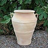 Kreta-Keramik - Vaso in terracotta resistente al gelo con manico,...