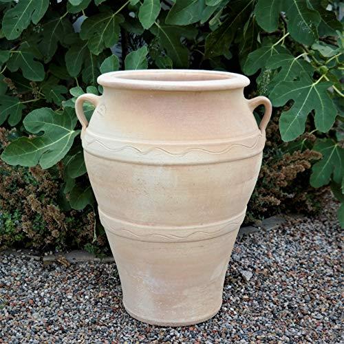 Céramique crète | amphore en terre cuite de haute qualité | 50 cm | amphore à grandes plantes | fait main et résistant au gel | Décoration méditerranéenne pour la terrasse extérieure du jardin, Olea