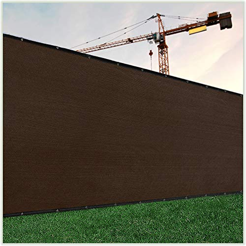 ColourTree 4' x 50' Brown Fence Privacy Screen Windscreen Cover Fabric Shade Tarp Netting Mesh Cloth - Commercial Grade 170 GSM - Cable Zip Ties Included - We Make Custom Size
