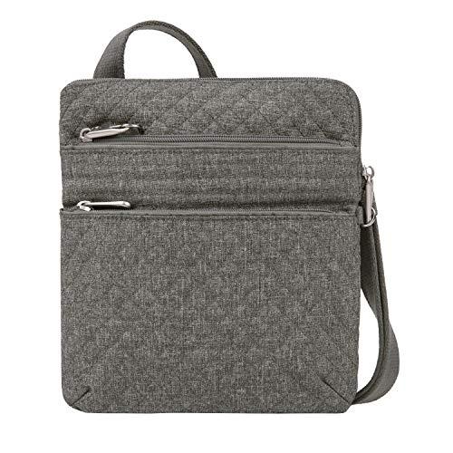 Travelon: Anti-Theft Boho Slim Bag - Gray Heather
