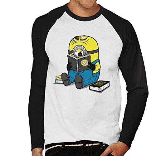 Cloud City 7 One Eyed Bookworm Minions Heren Baseball Long Sleeved T-Shirt