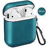 Airpods Case,Qcoqce Airpods Cover con Silicone in Metallo,Leggero Impermeabile Antipolvere...