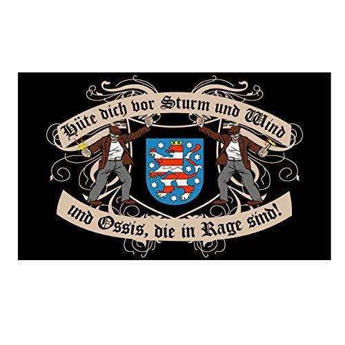 Spass kostet Fahne mit Ösen Flagge THÜRINGEN Spruch 90 x 150 cm