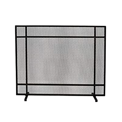 Christopher Knight Home Markus Modern Single Panel Iron Firescreen, Black Brushed Gold Finish by Great Deal Furniture