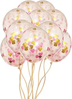 Heart Confetti Balloons: 10 Pack of Large 12