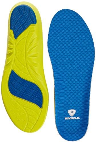 Sof Sole Athlete M - Plantillas ortopédicas, color azul, talla 43-44