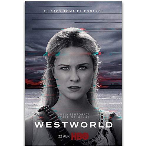 chtshjdtb Westworld Stagione 2 Nuovi Personaggi della Serie TV Wall Art Pittura Stampa su Tela Poster Decorazione della Parete di casa Regalo Opera d'Arte -50x70cm Senza Cornice 1 PZ