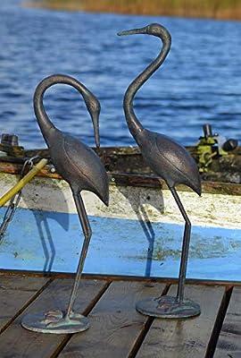 Sculpture Pair of Cranes in Cast Iron OGD202