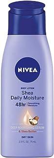 NIVEA Shea Daily Moisture Body Lotion - 48 Hour Moisture For Dry Skin - 2.5 fl. oz. Bottle
