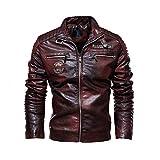 Amatop Men's Jacket-Motorcycle Jackets Leather Motorbike Jacket Biker Jacket Waterproof Jacket Plus Velvet