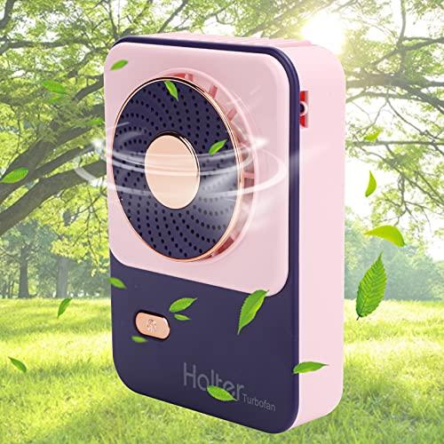 Ventilador de Cuello portátil para Colgar, Banco de energía portátil para Colgar en el Cuello, Ventilador de Cuello Recargable por USB Plegable para Usted en 24 Horas para Mujeres y Hombres