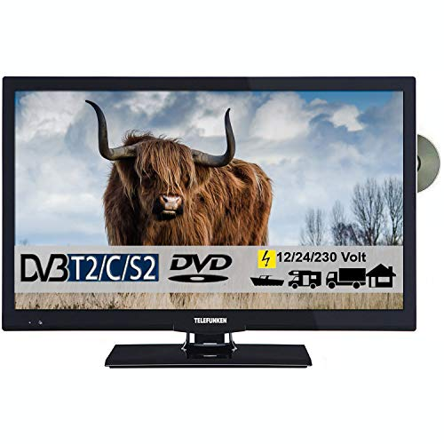 Telefunken T22X740 mobil Full HD LED Fernseher 22 Zoll 55 cm TV mit DVD DVB-S/S2, DVB-T2, DVB-C,...