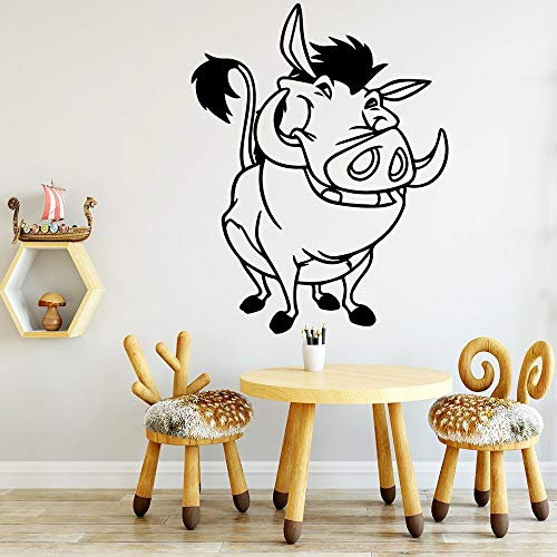 Anime Cartoon Moive Lion King Cute Funny Pumba Pig HAKUNAMATATA Animales Etiqueta de la pared Vinilo Art Decal Kids Nursery Dormitorio Sala de estar Home Decor Mural