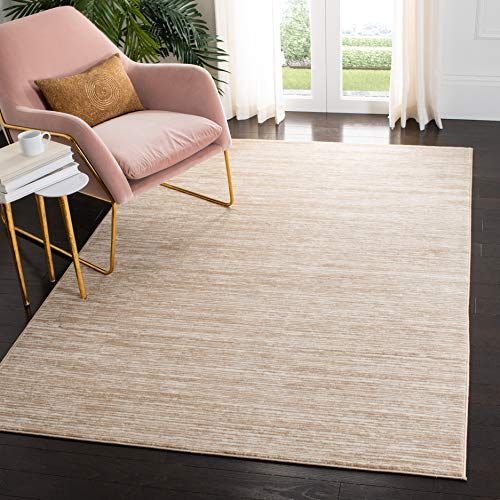 Safavieh Vision Collection VSN606F Modern Contemporary Ombre Chic Area Rug, 6' x 9', Creme