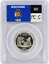 2004 Wisconsin State S Silver Proof Quarter PR-69 PCGS