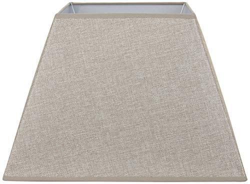 Better & Best Pantalla de lámpara de lino, cuadrada, de 40,5 cm, color tostado, medidas inferior: 40x40 superior:22,5x22,5, altura:28 cm, CAMEL