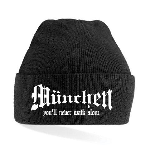 München Ultras You´ll Never Walk Alone Strickmütze|schwarz